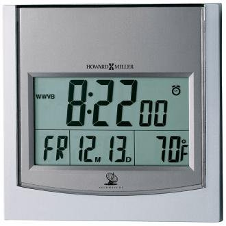 TechTime II Radio-Controlled LCD Wall/Table Alarm Clock, 6''