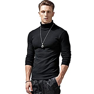 Men's black turtleneck
