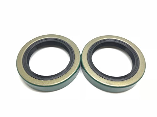 (Pack of 2) WPS(TM) Trailer Axle Hub Wheel Grease Seal 171255TB 3500# E-Z Lube Axle 1.719'' X 2.565'' 10-19 (Bearing Grease Seals)