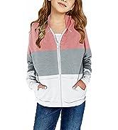 BLENCOT Toddler Girl Hoodie Zip-Up Hoodie Sweatshirts Girl Clothes