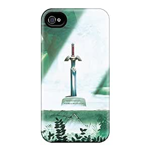 Protective Tpu Case With Fashion Design For Iphone 4/4s (master Sword)
