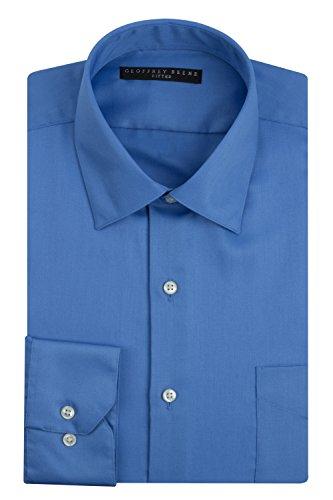 Geoffrey Beene Sateen Fitted Dress Shirt - Bluebird (17.5 - 36/37, Bluebird)