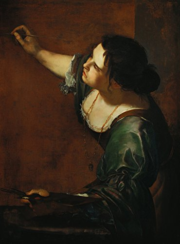 Artemisia Gentileschi - Self Portrait as the Allegory of Painting, Size 18x24 inch, Poster art print wall décor (Best Self Portraits Paintings)