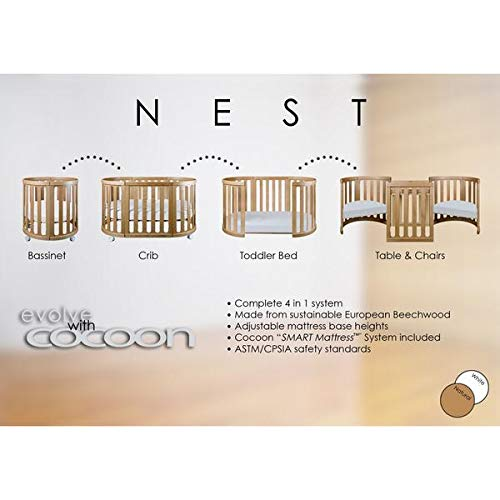 Cocoon Furniture Nest 4-in-1 Crib and Bassinet System in Natural by Cocoon Nest