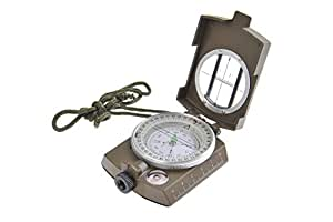 Huntington MG1 Military Bearing / Lensatic Compass, Professionally Liquid-Dampened, Full Metal Body with Bearing Prism / Lens System (K4580 GR US)