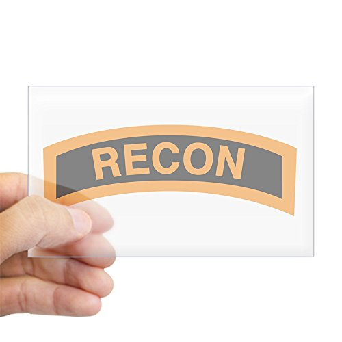 CafePress - Recon Tab Black And Gold Rectangle Sticker - Rectangle Bumper Sticker Car Decal