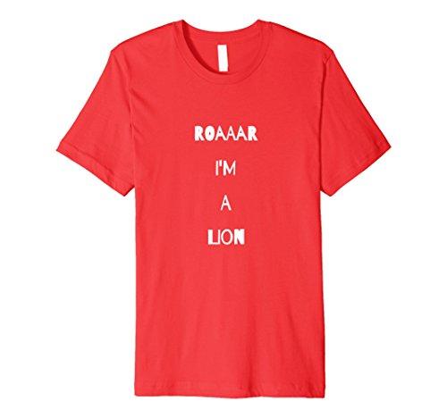 Jungle Man Costume Ideas (Mens Lion Roar Costume T Shirt King Animal Jungle Pride Cub Medium Red)