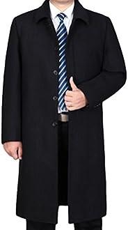 Mordenmiss Men's Winter Wool Coat Long Jacket Slim Fit Trench Over
