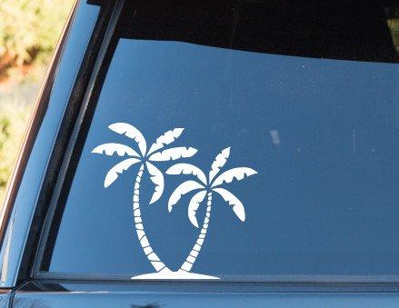 Palm Trees Tropical - Vinyl Decal - Car Phone Helmet - SELECT SIZE