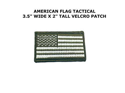 American Flag OD Green Embroidered Velcro Tactical Comics Ca