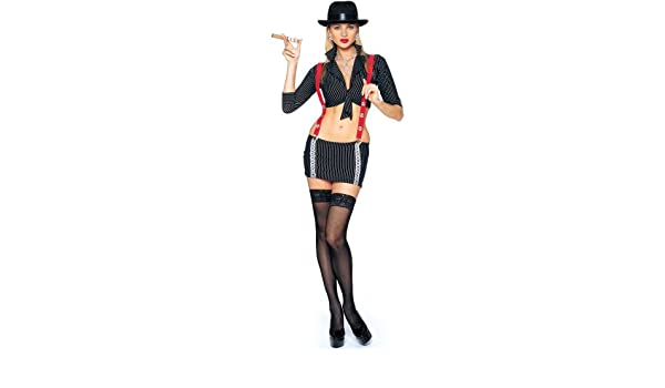 Franco Americana Novedad empresa Gangsta chica adulto disfraz de ...