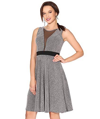 Verano Vestido Gris Corto 2743 Mujer 2018 Fiesta KRISP HFfdwqxIq