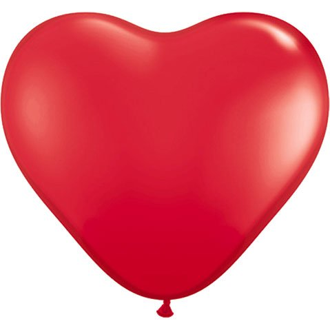 [Costumes For All Occasions PA34RD Balloon 6In Heart Qualatex Red] (Wtf Group Costumes)