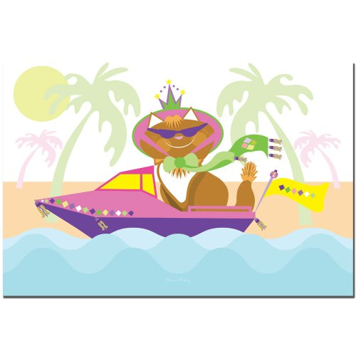 Trademark Fine Art Pretty Kitty Princess in a Boat by Grace Riley Canvas Wall Art, - Trademark Sunglasses