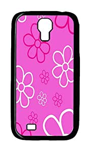 Samsung S4 Case,VUTTOO Cover With Photo: Flower Power For Samsung Galaxy S4 I9500 - PC Black Hard Case
