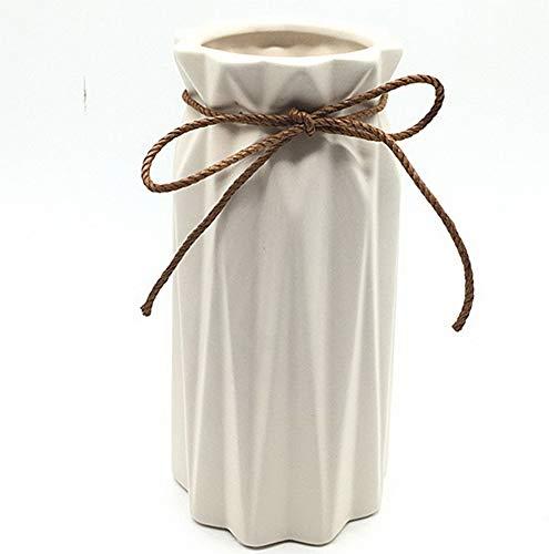 Vases Hindu - Gatton White Ceramic Vase - Elegant Origami Art Design- Ideal Gift for Friends and Family, ding, Desktop Center Vase, A Perfect Home Decor Vase (LY096) | Model WDDNG - 1894 |