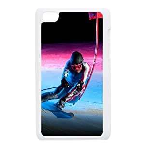 Sochi 2014 Olympic Downhill Skiing iPod Touch 4 Case White&Phone Accessory STC_183346