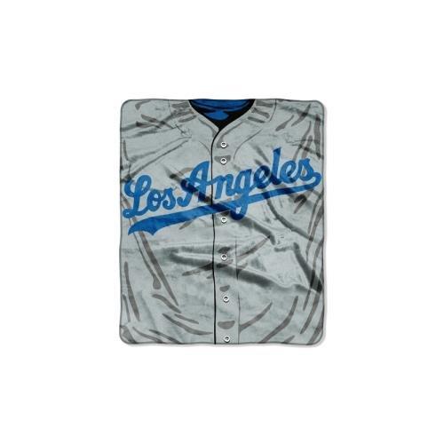 y MLB Los Angeles Dodgers Jersey Plush Raschel Throw, 50