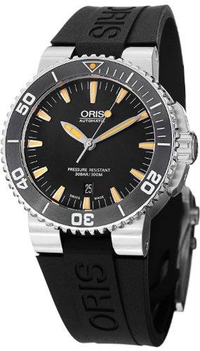 Oris Aquis Automatic Black Dial Stainless Steel Mens Watch 733-7653-4159RS