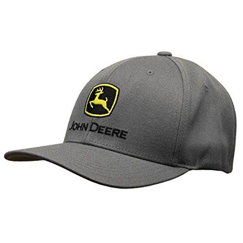 John Deere Men's Stretch Band Cap Embroidered Logo, Charcoal, One Size (John Deere 440 Log Skidder For Sale)