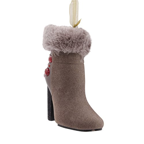 - Hallmark Signature Premium Christmas Ornament Holiday Shoes High Heels Ankle Boots,