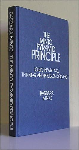 minto pyramid principle epub reader