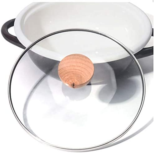 DYXYH Céramique marmite à soupe, Cuisine Pot, PARFAITEMENT en verre en acier inoxydable Pot, Pot antiadhésives, lait Pot, cuisinière à induction