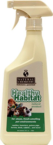 Healthy Habitat Natural Enzyme Bird Cage Cleaner for Glass, Metal and Plastic Cages, 24-Ounce (Cage Reptile Habitat)
