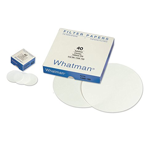 Whatman 1441-185-DS Cotton Linters Quantitative Filter Paper, Ashless, Grade 41, Circle, 20µm Pore Size, 220µm Thickness, 185 mm Diameter (Pack of 100) by Whatman