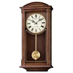 Seiko Wall Pendulum Clock Dark Brown Wooden Case