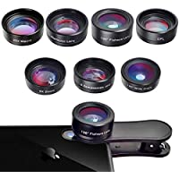 Bamoer 7 in 1 Cell Phone Camera Lens Kit for iPhone and Android