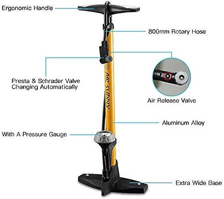 KuaiKeSport Bombin Bici,Bomba de Aire de Bicicleta Inflador de ...
