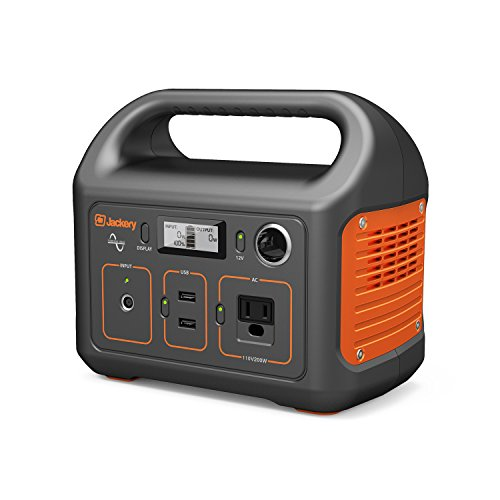 Jackery Portable Power Station Explorer 240, 240Wh Camping Generator 110V/200W AC Outlet, 12V Car Port, 2 USB Outputs, Optional Solar Panel, Solar Generator for Fishing Vanlife CPAP Picnic