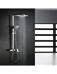 BL Modern Retro Contemporary Waterfall Chrome Brass Shower Faucet With Shower Head Shower Faucet Chrome Plated Solid Brass
