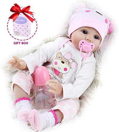 CHAREX Lifelike Reborn Baby Dolls, 22 inch Realistic Silicone Baby Dolls for Girls, Vinyl Newborn Dolls , Gift for Kids Age 3+