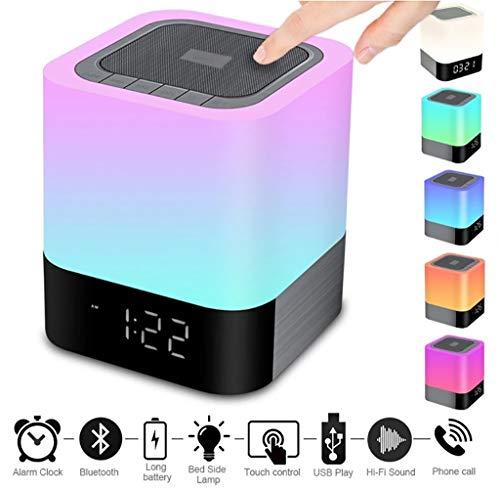 Night Light Bluetooth Speaker Touch Sensor LED Bedside