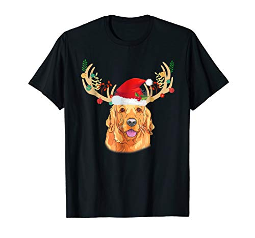 Nova Scotia Duck Tolling Retriever with Antlers Christmas -