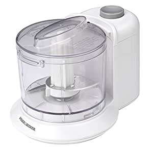 BLACK+DECKER HC306 One-Touch 1.5 Cup Capacity Electric Chopper, White