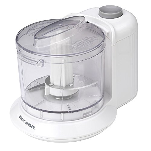 BLACK+DECKER HC306 One-Touch 1.5 Cup Capacity Electric Chopper, (Cooks Food Processor Lid)