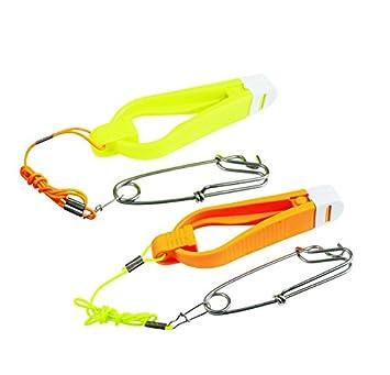 in S oder L verf/ügbar 1x in Gelb und 1x in Orange FLADEN Downrigger Stacker Release Clip die Blisterverpackung enth/ält 2 Release Clips