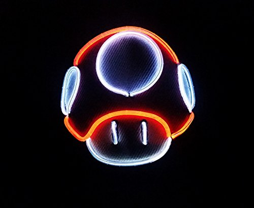 LED Light Up Mushroom Hat - Mario Mushroom Party Hat! 3-Mode LED Hat by Twisted Glow