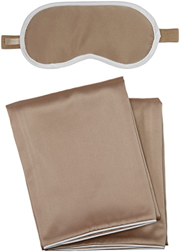 iluminage Sleeping Beauty Gift Set, Patented Copper Technology for Repair and Replenishment, Copper-Infused Textiles for Daily Use, Includes: 2 Pillowcases, 1 Eye Mask (Replenishment Set)