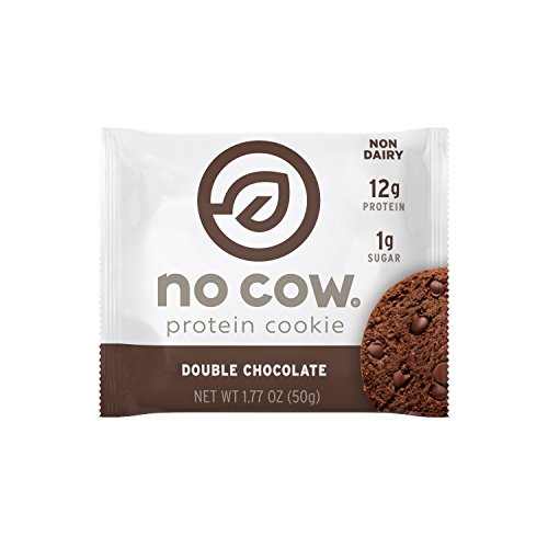 No Cow Protein Cookie, Double Chocolate, 12g Plant Based Protein, Low Sugar, Dairy Free, Gluten Free, Vegan, 12 (Dairy Free Cookies)