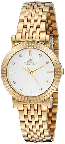 Adee Kaye Women's Quartz Stainless Steel Dress Watch, Color:Gold-Toned (Model: ()