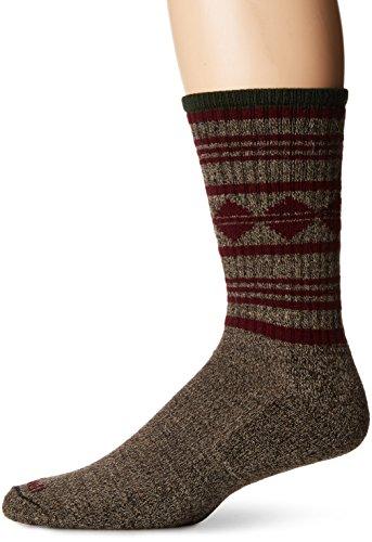 Sockwell Men's Poncho Stripe Hiker Crew Socks, Brown, (Stripe Alpaca Poncho)