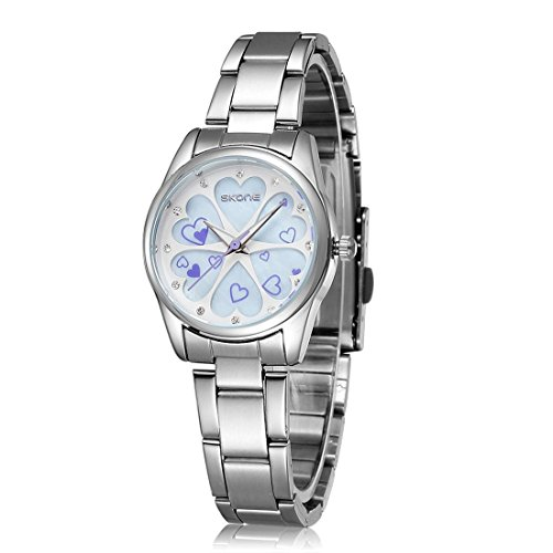 Ladies Water-Resistant Stainless Steel Wrist Watch for Women - Female Silver