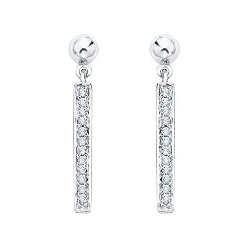 KATARINA Diamond Dangle Earrings in 10K White Gold (1/8 cttw, G-H, I2-I3)