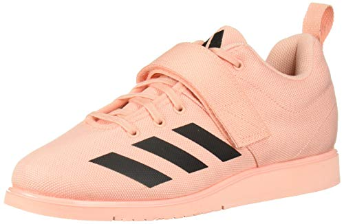 adidas Women's Powerlift 4 Cross Trainer, Black/Glow Pink, 5.5 M US