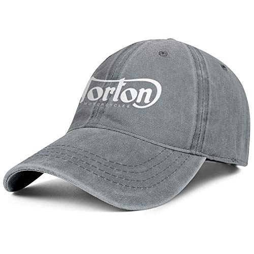 Mens Womens Norton-Motorcycles-Logo- Adjustable Vintage Golf Hats Baseball Washed Dad Hat Cap