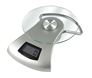 Kalorik Electronic Kitchen Scale, Silver/Clear